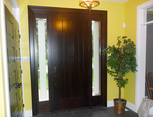 Front door in foyer