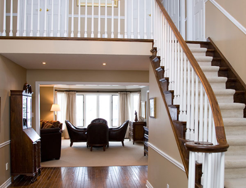 Staircase and dining room from foyer