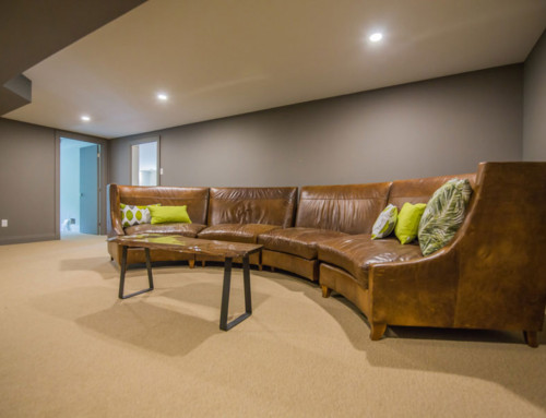 Windermere basement lounge area