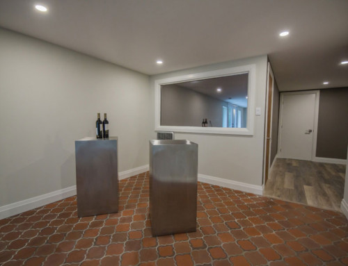Windermere basement wine tasting area